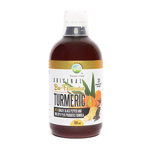 Turmeric with Ginger, Black Pepper and Multiply Plus Probiotic Formula - 33 servings - Restore digestive balance, maintain intestinal Health, support immune system. Made in Australia 500 ml Liquid