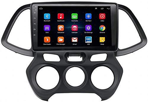 GPS Navigation Head Unit Sat Nav AUD Audio Player MP5 FM Radio Coche Estéreo Estéreo 9 Pulgadas Pantalla Táctil Android 9.0 Compatible para Hyundai Santro/Atos 2018,4 Core WiFi 1+16GB