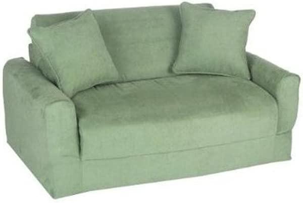 Fun Furnishings Sofa Sleeper Green Micro Suede
