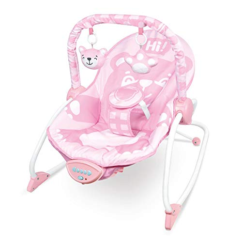 Best Price Btybess Baby Bouncer, Lounge Chair with Music Vibration, Infant-to-Toddler Leisure Multif...