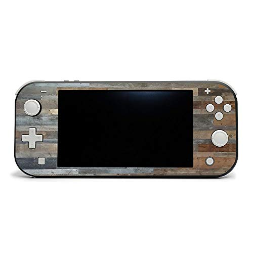 MightySkins Skin Compatible with Nintendo Switch Lite - Gray Wood   Protective, Durable, and Unique Vinyl Decal Wrap Cover   Easy to Apply, Remove, and Change Styles   Made in The USA