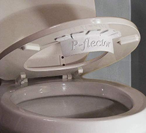 P-flector - The Urine Deflector That Prevents Potty Training Kids (and Adults) from Peeing Through The Gap Between The Toilet seat and Bowl.