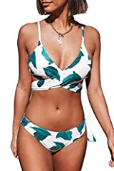 Fabric: Chinlon,Elastane Design: Cross at front and tie at back About Cup Style: With Padded Cups Garment Care:Hand Wash and Hang Dry. Recommend with Cold Water. Do not Use Bleach. The pattern is one of a kind - The exact pattern you receive will be ...