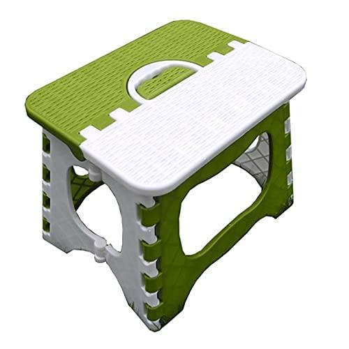 IADZ Taburete Plegable, Taburete de Paso Plegable de plástico Tren casero Almacenamiento al Aire Libre Plegable Almacenamiento al Aire Libre Plegable