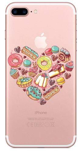 Coquefone - Cover per iPhone 7 e iPhone 8, motivo: dolci dolci macarons Cupcakes Donuts illuminati