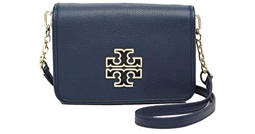Tory Burch Britten Leather Combo-Crossbody Bag, Blue