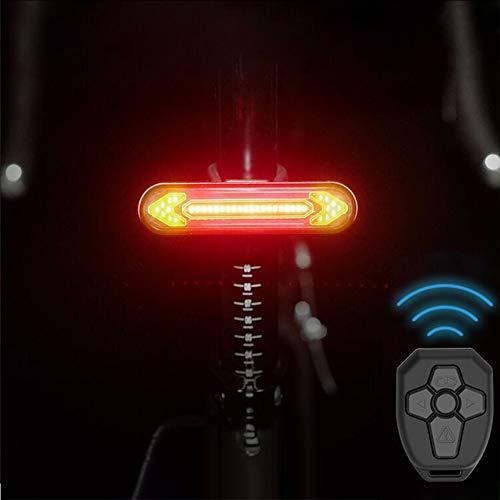 Guijiyi Fanale Posteriore per Bici con Telecomando Wireless, Luce Posteriore Smart per Bicicletta, Fanale Posteriore Bike Impermeabile e Ricaricabile, con Indicatori di Direzione
