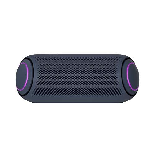 LG XBOOM Go PL7 Tragbarer kabelloser Bluetooth-Lautsprecher mit bis zu 24 Stunden Akkulaufzeit, IPX5 Wasserfester Party-Bluetooth-Lautsprecher, kompatibel mit LG OLED TV, schwarz