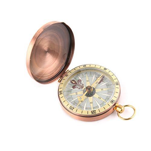 luosh Vintage Flip Cover Bussola Orologio da Taschino Bussola per Uomo Donna Campeggio Escursionismo Nautica Nautica Marine Survival Compass