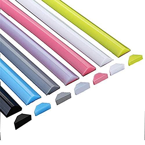 BDXZJ Tira Impermeable de Silicona Flexible Ducha Presa, Tira Impermeable Plegable de Silicona, Tira de Sellado de Retención de Agua Plegable Barrera de Ducha Y Sistema de Retención Transparent,200cm