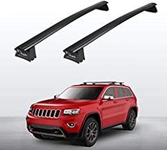 BougeRV Car Roof Rack Cross Bars for 2011-2021 Jeep Grand Cherokee with Side Rails, Aluminum Cross Bar Replacement for Rooftop Cargo Carrier Bag Luggage Kayak Canoe Bike Snowboard Skiboard