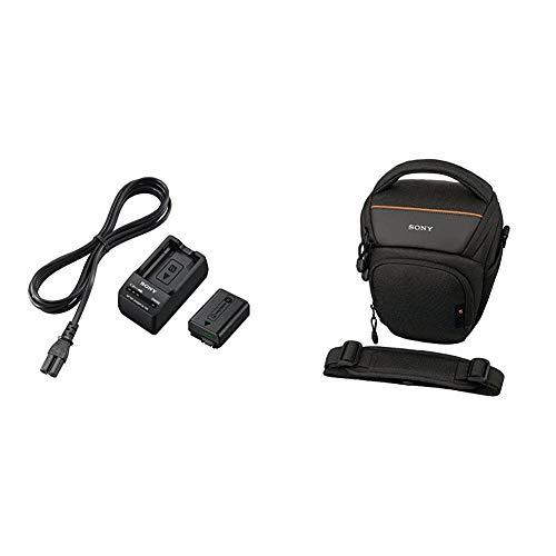 Sony ACC-TRW Akku Zubehör Kit mit BCT-RW Ladegerät und NPFW50 W-Serie Li-Akku (geeignet für A6000 Serie, A7 Serie und RX10 Serie) & LCS-AMB Kameratasche für Sony Alpha-Kamera