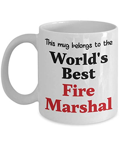 World's Best Fire Marshal Mug Unique Occupational Gift Firefighter Marshall Rescue Appreciation Thank You Novelty Birthday Coffee Cup