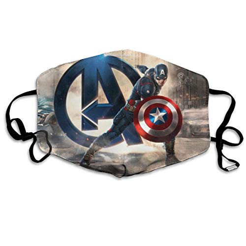 Face Mask Washable Reusable Breathable Captain Hero America Windproof Mouth-Muffle Mouth Mask