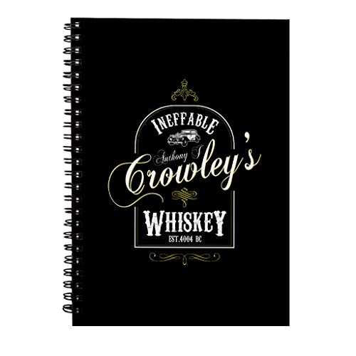 Anthony J Crowleys Onneembare Whiskey Goede Omens Spiraal Notebook