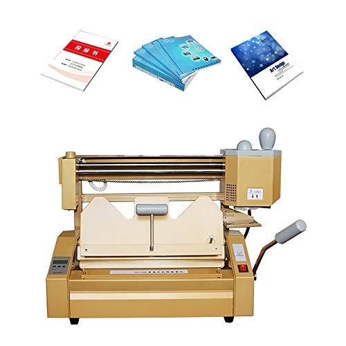 MXBAOHENG Máquina de encuadernación de libros A4 DC-30K Hot Melt Glue Binder Máquina de pegamento de escritorio para licitación Document Book Paper Report Contract Graphic