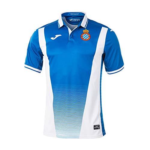 Joma RCD Espanyol Primera Equipación 2017-2018, Camiseta, Azul-Blanco, Talla 2XS