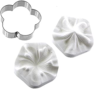 Hibiscus Flower Cutter and Silicone Veiner Set by Chef Alan Tetreault