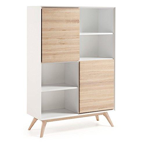 Kave Home - Libreria Eunice in legno di frassino con 8 ripiani