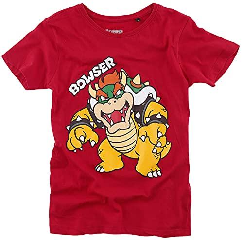 Super Mario Bowser Männer T-Shirt rot 146/152