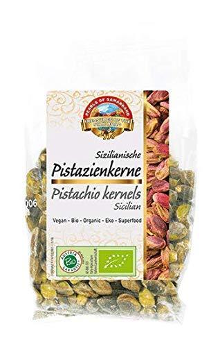 Pistachos sicilianos pelados crudos orgánicos 700g BIO nueces, descascarillados con piel, granos sin tostar y sin sal, de Italia, fuente natural de melatonina 7x100g