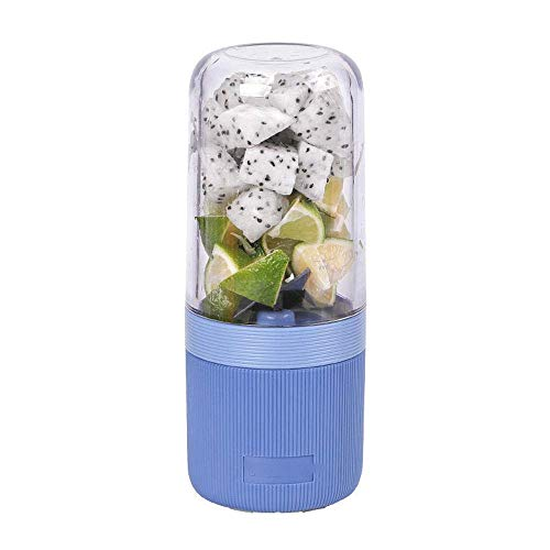 REWD Portable Personal Blenders for kitchen Juicer - Blender, Portable Blender, Personal Juicer Cup Electric Fruit Mixer,Mini Juice Blender,7.2x19.2cm (Color : Blue)