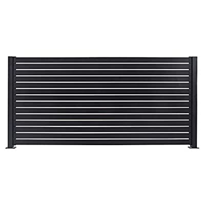 "Stratco Aluminum Slat Fence Gate 71"" High x 40"" Wide Horizontal Privacy Fence Gate and Fences"