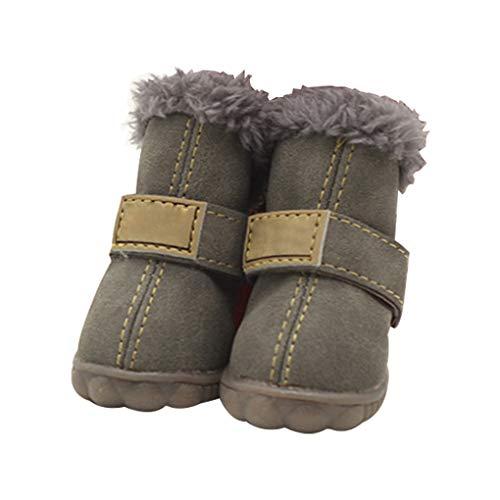 kexinda 4pcs Mascotas Zapatos Impermeables de Cuero Botas de Nieve de la...