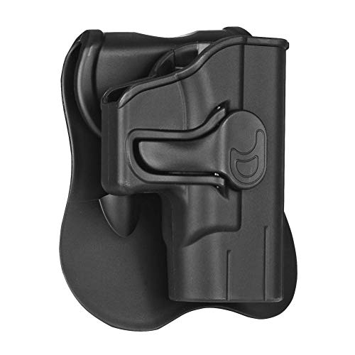 CYTAC Ruger LC9 OWB Holster, Tactical Outside The Waistband Paddle Belt Holsters Fit Ruger LC380 LC9 LC9s EC9 EC9s Pistol(Unfit Ruger Security 9), Right Handed