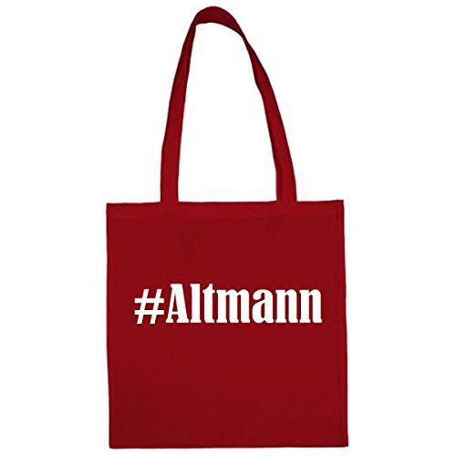 Tasche #Altmann Größe 38x42 Farbe Rot Druck Weiss