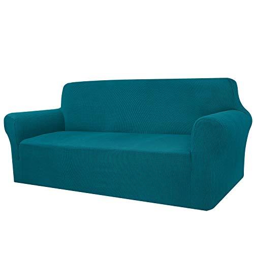 Granbest - Funda de sofá de Alta Elasticidad, diseño Moderno, Jacquard, elástica, para el salón, para Perros y Mascotas (4 plazas, Verde Negruzco)