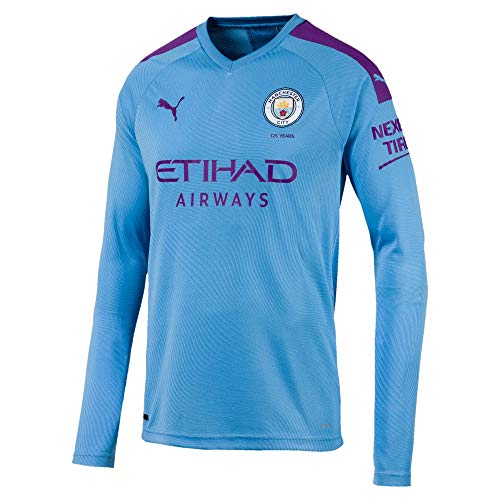 PUMA 2019-2020 camisa y camiseta Camiseta de manga corta Hombre, English Premier League, Hombre, color azul celeste, tamaño large