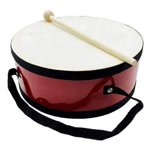 Tambor para niños, instrumento musical de madera con correa y palo, diámetro: 20 cm, 3847