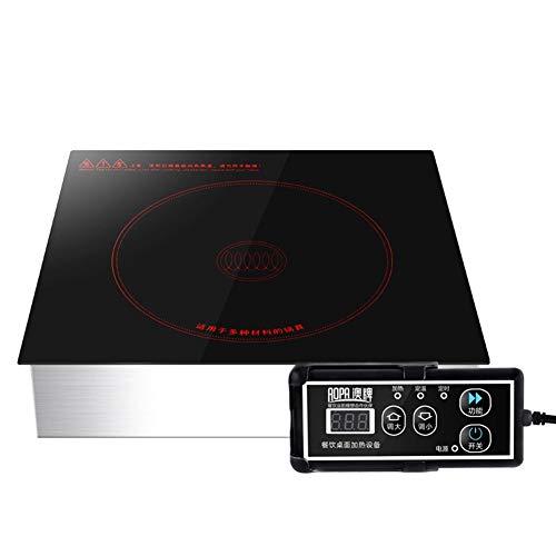 Multifunción Parilla de Inducción Estufa eléctrica portátil, 2000W infrarrojo solo quemador de...