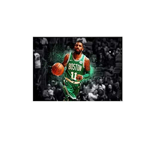 Gigoo NBA Basketball Legend Kyrie Irving Boston Celtics NBA Star Decoración para el hogar Sala de Estar Arte de Pared para decoración de Dormitorio 60x80cm sin Marco