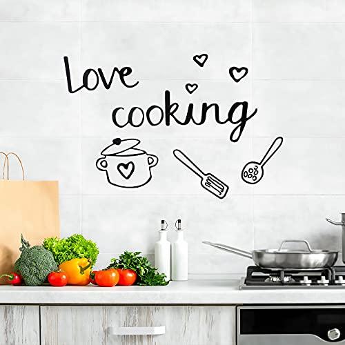OOTSR Pegatinas de Pared Cocina, Vinilos de Pared Decorativos Cocina Murales Adhesivos y Pegatinas de Pared para Decoración Hogar de Pared Comedor de la Cocina