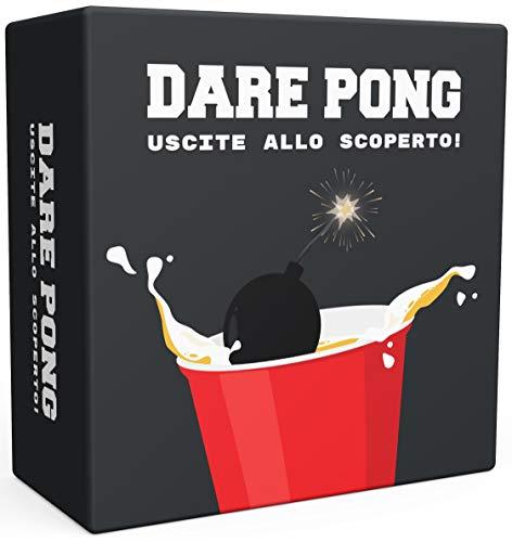 Dare Pong - Un entusiasmante Mix tra Beer Pong e Obbligo o verità. Il Nuovo Gioco Alcolico del 2021! Ideale per Feste, Pre-Party, Festival o Come Idea Regalo