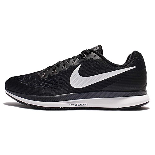 Nike Men's Air Zoom Pegasus 34 Running Shoe Black/White-Dark Grey-Anthracite 11.5