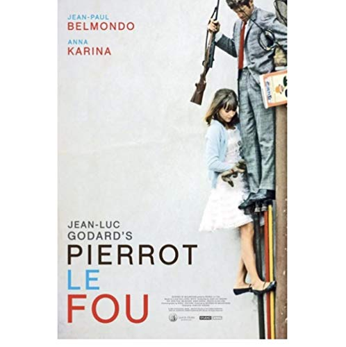 Poster Pierrot Le Fou Poster Klassieke Film Serie Poster Decoratieve Poster Muur Canvas Sticker Home Decor Posters En…