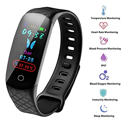 3Cloudge Fitness Tracker with Smart Activity Thermometer Blood Pressure Health Blood Oxygen Heart Rate Sleep Monitor Calorie Counter Watch Smart Bracelet