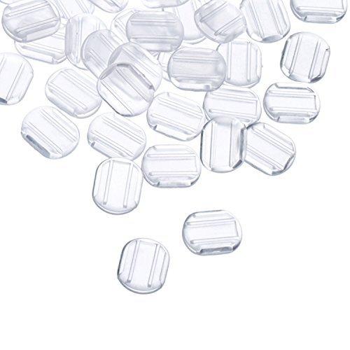 Lvcky - Set di 50 cuscinetti in silicone per orecchini a clip, colore: Trasparente
