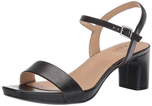 Naturalizer womens Ivy Ankle Strap Heels Sandal, Black Leather, 5.5 US