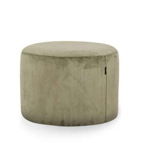 MiPuf - Puff Taburete Pana - 60x45 cm - Alta Resistencia - Verde Oliva