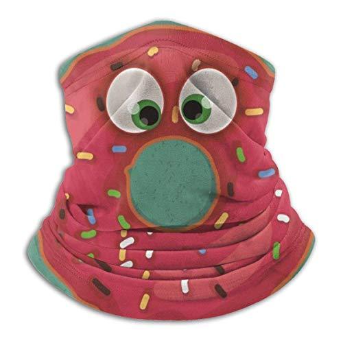 Strawberryran Gracioso Donut Fleece Neck Warmer Pasamontañas Capucha