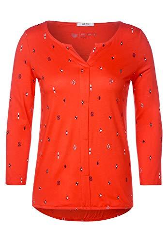 Cecil - Shirt mit Ikat-Print in Funky Orange Größe XXL