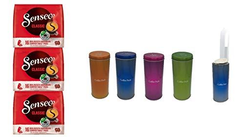 Senseo Kaffeepads Klassisch / Classic, Intensiver & Vollmundiger Geschmack, Kaffee, 3er Pack, 3 x 16 Pads