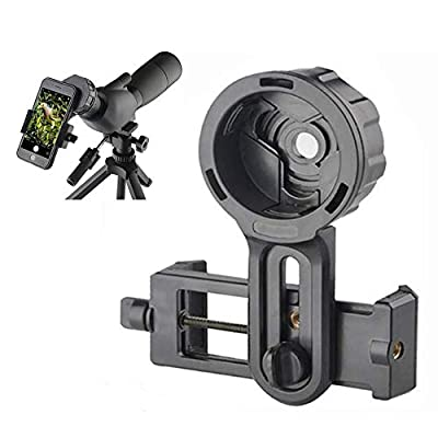 SOLOMARK Cell Phone Photography Adapter Mount -Compatible Telescope Spotting Scope Binoculars Monocular, Fit Almost Brands Smartphones by SOLOMARK