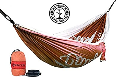 Rincon Camping Hammock with Tree Straps, Indoor Outdoor, Travel, Portable, Backpack, Double Parachute Hammock with Bag - California Bear