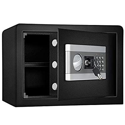 Safe Security Box, Fireproof and Waterproof Safe Cabinet, Digital Combination Lock Safe, with Keypad LED Indicator, for Cash Money Jewelry