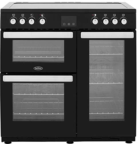Belling Cookcentre 90E 90cm Electric Ceramic Range Cooker - Black